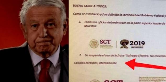 """Reclaman por eliminación de frase """"Sufragio efectivo…""""; es fake, dice Gobierno"""