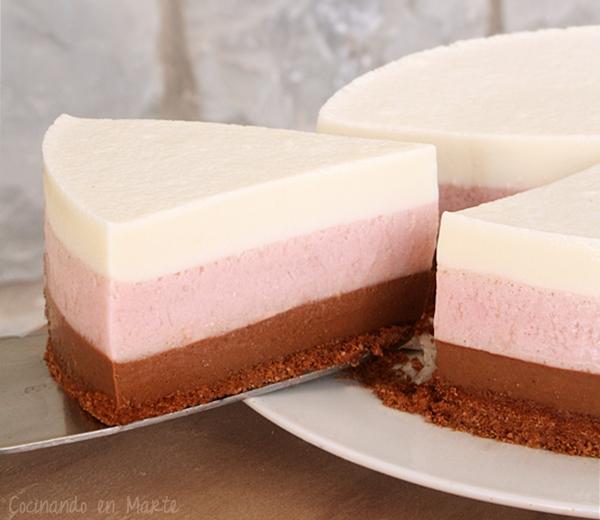 Pastel helado de napolitano